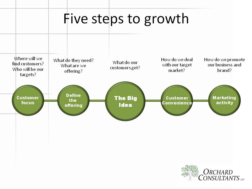 Five steps to growth